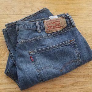 Levi's 501 Button Fly Men's 40x30 Blue Denim Jeans